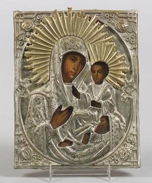 Russian Icon of the Tikvin Mother of God