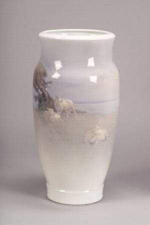 Royal Copenhagen Porcelain Vase with Sheep