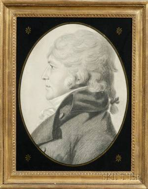 Attributed to Charles Balthazar Julien Ferret de SaintMemin FrenchAmerican 17701852 Portrait of Thomas Rodman of B