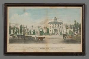 JH Bufford lithographer American 19th Century A View of the Mansion of the Late Lord Timothy Dex