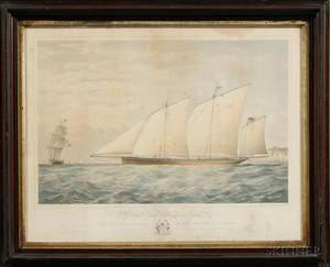 Thomas Goldsworth Dutton British c 18191891 Lot of Three Works Depicting British Sailing Vessels The C