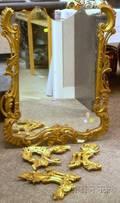 Rococostyle Giltgesso Mirror