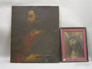 Two Framed Oil on Canvas Portraits