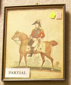 Lot of Nine Framed Military Themed Prints