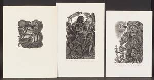 Fritz Eichenberg GermanAmerican 19011990 Lot of Nine Prints Francois Villon