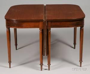 Regency Mahogany and Veneer Banquet Table