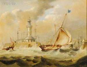 Attributed to James Edward Buttersworth AngloAmerican 18171894 Ramsgate Lighthouse Kent