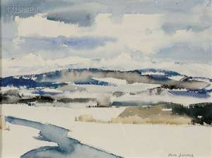 Paul Starrett Sample American 18961974 January Landscape