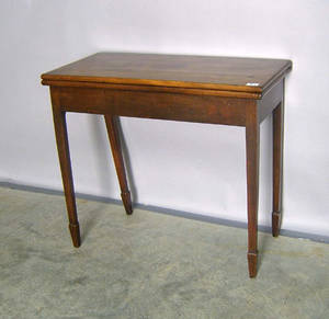 English mahogany card table