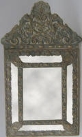 Dutch embossed brass mirror