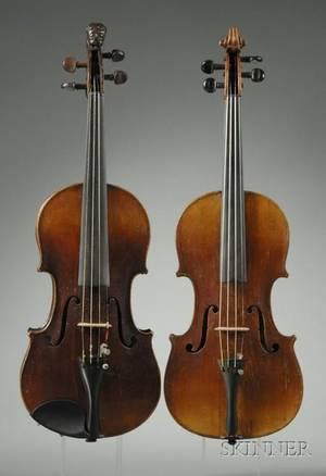 Two German Violins c 1890