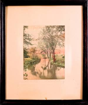 Three Wallace Nutting colored photographs