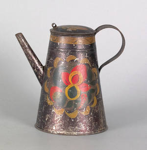 Toleware teapot 19th c