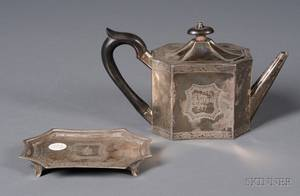 George III Silver Teapot and Stand