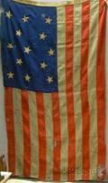ThirteenStar Appliqued and Pieced American Flag