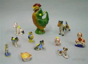 Eleven Ceramic Dog and Animal Figures and Figural Items