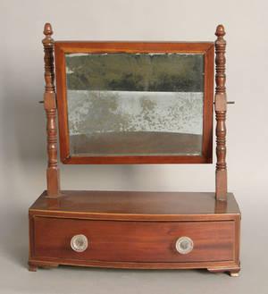 Federal mahogany shaving mirror