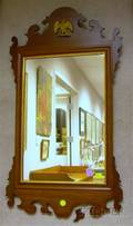 Chippendalestyle Mahogany Mirror