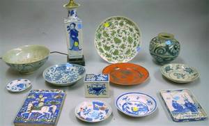 Group of Mostly Chinese Porcelain Table Items