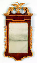 Chippendale mahogany and parcel gilt constitution mirror ca 1780