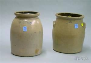 FB Norton  Co Stoneware Jar and a 1 12Gallon Stoneware Crock