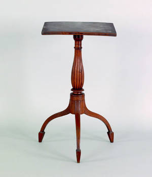 New England Federal cherry candlestand ca 1815