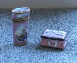 Two French Enamel Boxes