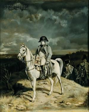 British School 19th Century Napoleon on Horseback