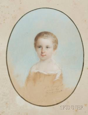 Camille de Lagrange French 19th Century Portrait of a Child