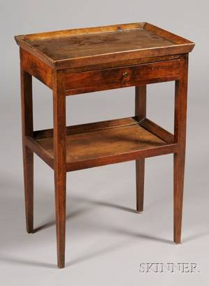 French Provincial Fruitwood Work Table
