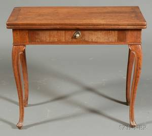 Continental Rococo Fruitwood Game Table