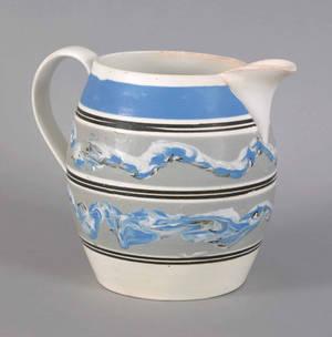 Large mocha pitcher 19th c