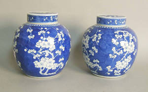 Pair of Chinese porcelain ginger jars