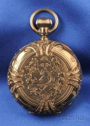 Antique 14kt Gold Hunting Case Pocket Watch Elgin