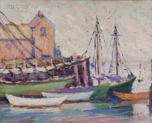 Lillian Burk Meeser American 18641942 Harbor View Rockport Massachusetts