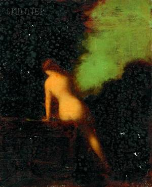 Attributed to Jean Jacques Henner French 18291905 Nude