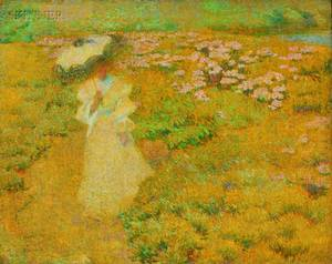 Philip Leslie Hale American 18651931 A Walk Through the Fields