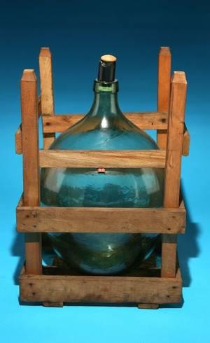 Glass Wine Jug in Crate