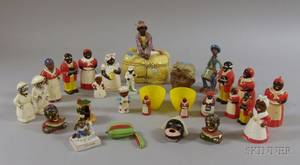Collection of Vintage Ceramic and Plastic Black Character Figural Kitchenware Items