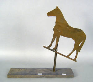 Sheet iron horse weathervane