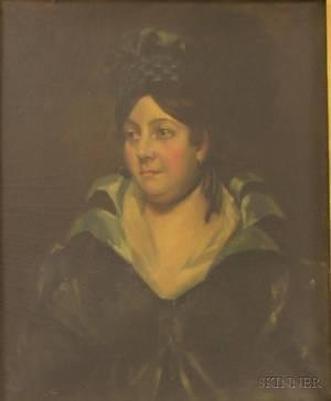 Framed 19th20th Century American School Oil on Canvas Portrait of a Lady