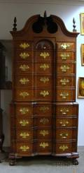 Chippendalestyle Carved Mahogany Blockfront Chest on Chest