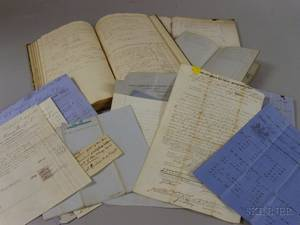 Group of 19th Century American and British Shipping Ledgers Documents Etc
