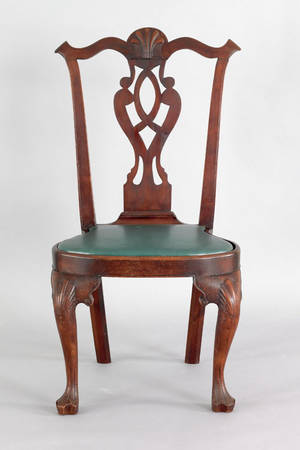 Delaware Valley transitional walnut dining chair ca 1765
