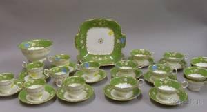 English Porcelain Partial Tea Service