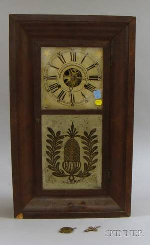 Mahogany Ogee Clock by Union Manufacturing Company