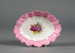 Paris Porcelain Enamel Decorated Serving Dish