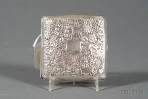 Chinese Export Silver Cigarette Case