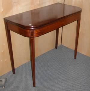 Regency Boxwood Stringinlaid Mahogany Card Table