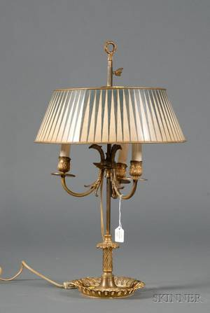 French Yellow Tole Lamp